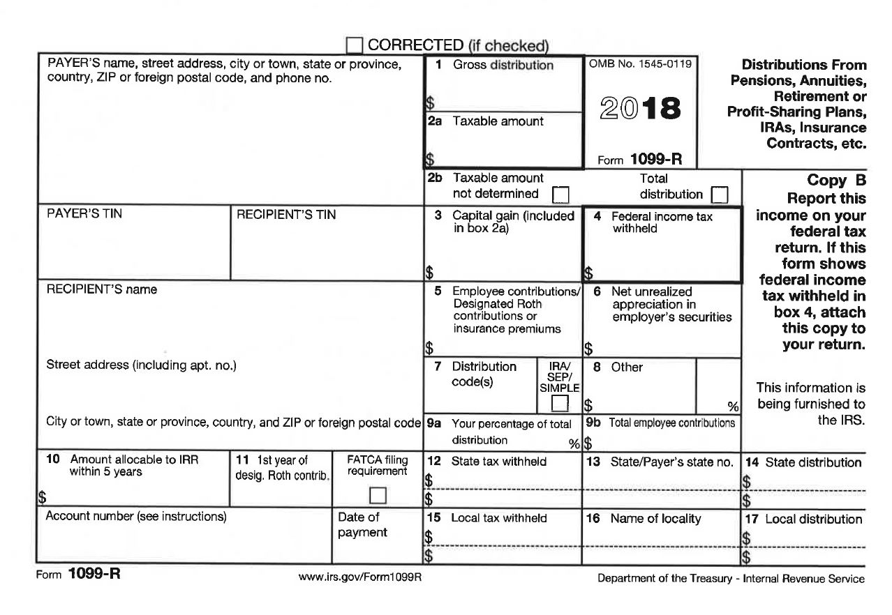 1099 R 2018  R Form Example on html paper, us passport application, leave request, employment application,