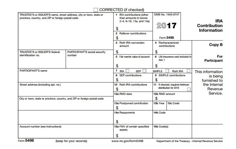 Eagle Life Tax Form 5498 For Ira Accounts